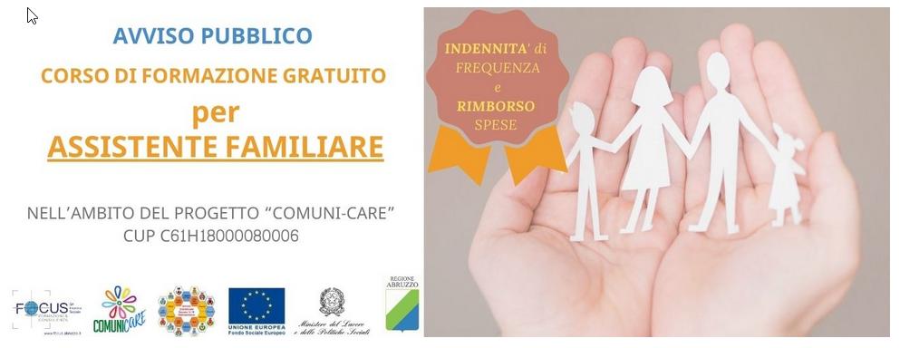 """Corso Formazione  gratuito """"ASSISTENTE FAMILIARE"""""""