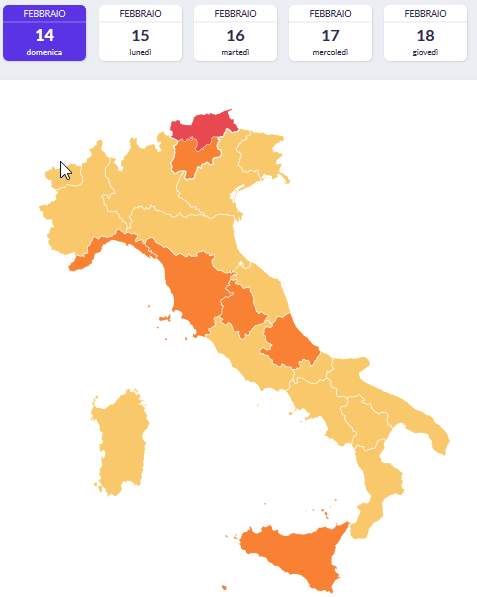 Coronavirus: San Valentino si tinge di Arancio in Abruzzo